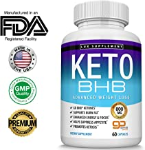 Lux Supplement Keto Pills Advanced Weight Loss BHB Salt - Natural Ketosis Fat Burner Using Ketone & Ketogenic Diet, Boost Energy While Burning Fat, Fast & Effective Perfect for Men Women, 60 Capsules