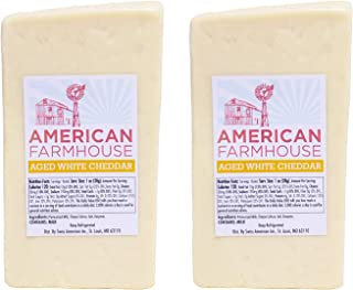 American Farmhouse 2-Year Aged White Cheddar Cheese, 5 Lb (Pack Of 2, 2.5 lb half loaves)