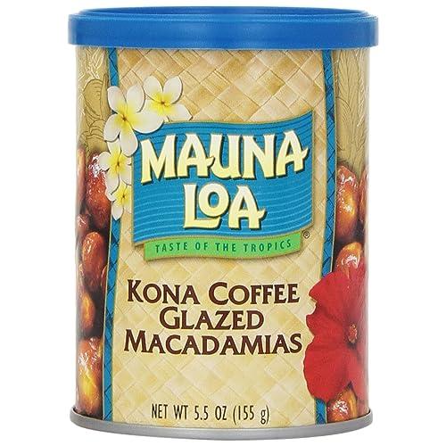 Mauna Loa Macadamias, Kona Coffee Glazed, 5.5 Ounce Container