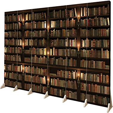 Wood Screen Room Divider Two storied Bookshelf Seamless texture vertically and horizontally Folding Screen Canvas Privacy Par