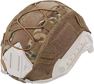 IDOGEAR Tactical Helmet Cover Camouflage Cover for Fast Helmet in Size M/L Airsoft Paintball Hunting Shooting Gear 500D Nylon