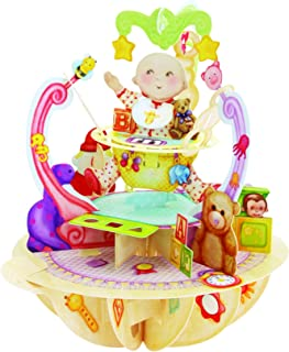 Santoro Pirouettes New Baby 3D Pop Up Card