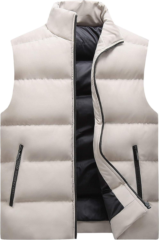 LYLY Vest Women Vest Men Sleeveless Vest Men Spring Autumn Lightweight Coats Male Cotton Men's Vest Jacket Thick Outwear Waistcoat Vest Warm (Color : Blue, Size : 6XL)