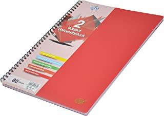 FIS 2 Subject University Books, 80 Sheets, A4 Size, Micro Perforated Pages, Red Colour - FSUB2SPPRE