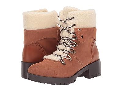 SKECHERS Mid Sherpa Tongue Hiker Boots (Chestnut) Women