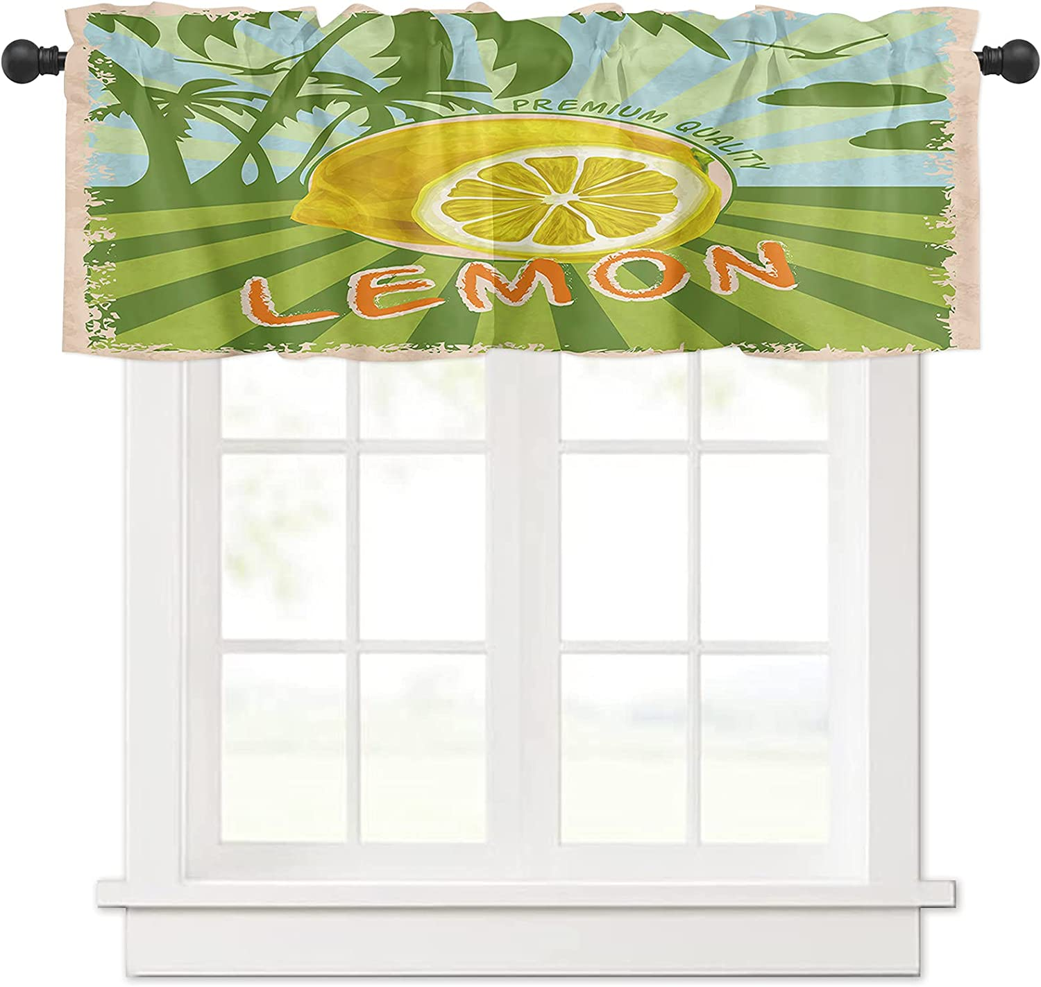 Summer Lemons Outlet ☆ Free Shipping Palm Fixed price for sale Tree Silhouette Valances Windows Curtain