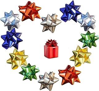 Christmas Wrapping Bow, elify Metallic Ribbon Star Bow 3
