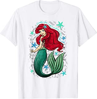 The Little Mermaid Ariel's Song Music Notes T-Shirt