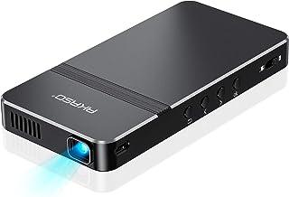 AKASO プロジェクター 小型 DLP ミニ 1080P対応 WIFI接続 台形補正±30°スマホと直結でき 4000Mah モバイルバッテリーとして使用可 1400lm スマホ/TV Stick/TV Box/タブレット/ゲーム機など接続可...
