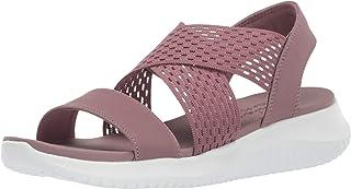 Skechers Women 32495 Ultra Flex - Neon Star - Cross Strap Sling Back Sporty Sandal