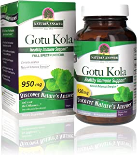 Nature's Answer Gotu-Kola Herb Capsules 90 Count | Promotes Longevity and Vitality | Supports Cognitive Function | Natural...