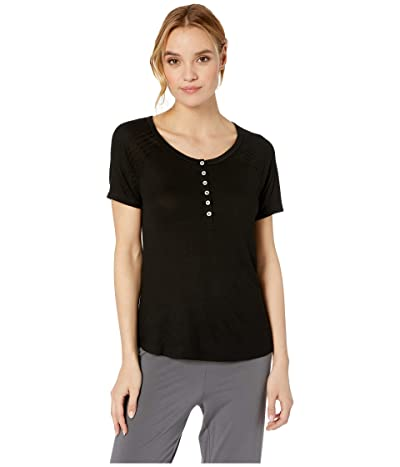 Splendid Always PJ Tee (Black) Women