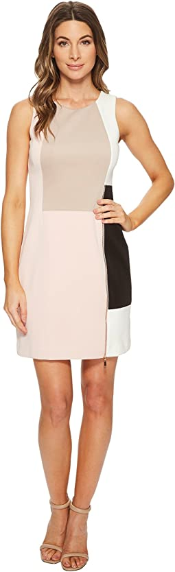 Ivanka Trump - Scuba Crepe Sleeveless Patchwork Dress