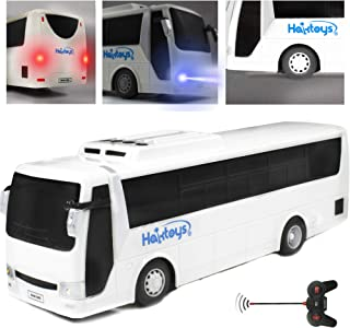 Haktoys Radio Remote Control Bus | High Speed Racing & Model Car Toy Series | with Realistic Beaming Lights and Rubber Tires | Safe and Durable | Great Present for Kids, Boys & Girls