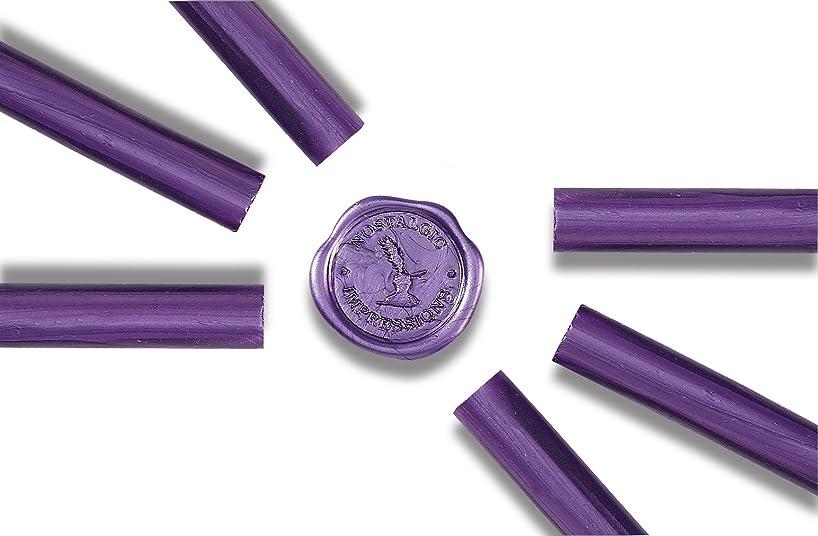Premium Glue Gun Sealing Wax -Met.Purple- Pack of 6