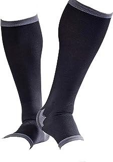 男性専用 脚すっきり対策オープントゥ メンズ 着圧ソックス 膝下 LL 順天堂大学客員教授推奨