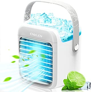 Portable Air Conditioner, Enklen Portable Cooler, Quick & Easy Way to Cool Personal Space, As Seen On TV, Suitable for Bed...