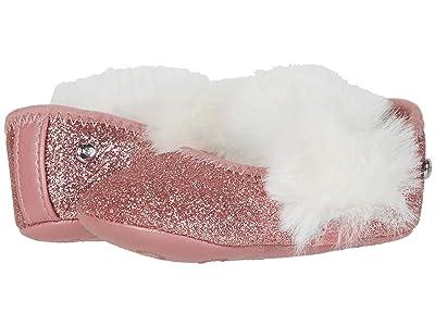 UGG Kids Fluff Glitter Ballet Flat (Infant/Toddler) (Pink) Girls Shoes