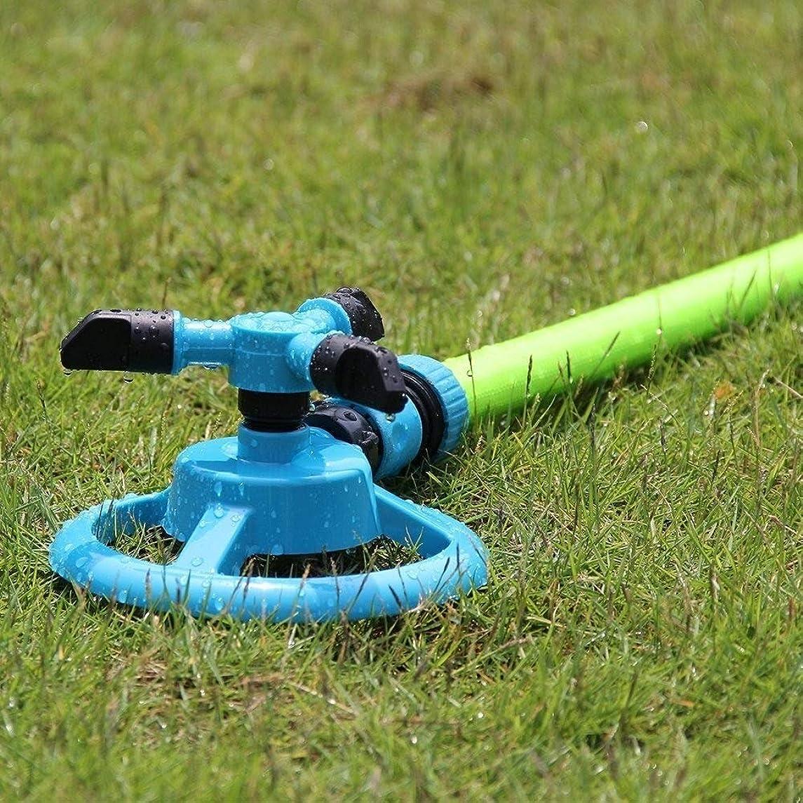 強制的正確な提出する芝生のスプリンクラー自動ガーデンウォーターガーデンは、ノズルの芝生灌漑回転360度プラスチック芝生の水まきスプリンクラースプレー DIY園芸噴水ヘッド (Color : Blue)