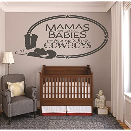 Design with Vinyl RAD V 315 1 Boots Chaps /& Cowboy Hats Thats What Little Boys are Made of Baby Newborn Son Boy Infant Nursery Bedroom Decor Decal 12 x 12 Black