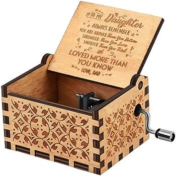 Freudlich 《You Are My Sunshine》 Cajas de música de Madera, Caja Musical de Madera Vintage grabada con láser Regalos para cumpleaños/Navidad/día de San Valentín (Dad to Daughter): Amazon.es: Hogar