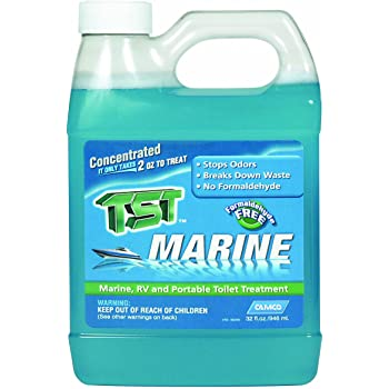 Amazon Com Camco Tst Clean Scent Marine Head Toilet Treatment Formaldehyde Free Breaks Down Waste And Tissue Treats Up To 16 40 Gallon Holding Tanks 32 Ounce Bottle 41362 Automotive