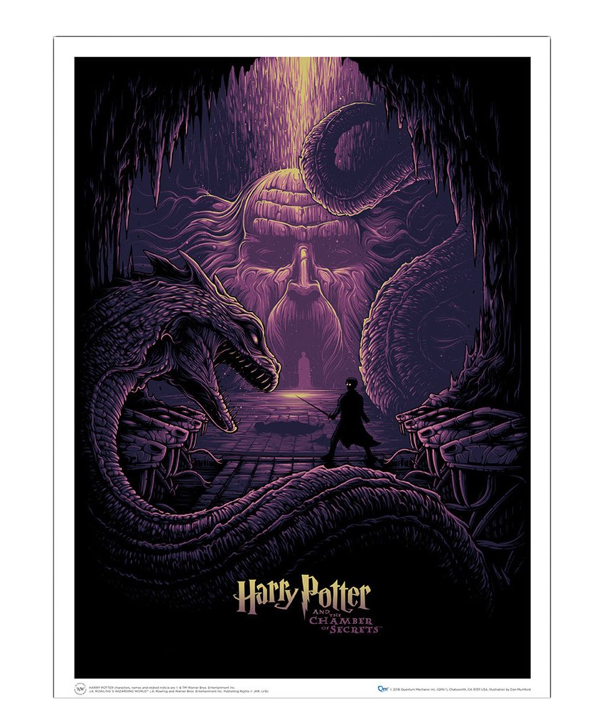 Quantum Mechanix Harry Potter Art Print Harry Potter & The Eyes of The Basilisk 61 x 46 cm