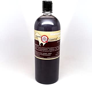 Yeguada La Reserva Shampoo de Caballo Negro (1 liter Bottle) - All Natural - For Strong, Healthy And Beautiful Hair (For Dark to Black Colored Hair)