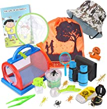 Outdoor Explorer Kit & Bug Catcher Kit with Binoculars, Flashlight, Compass, Magnifying Glass, Critter Case and Butterfly ...