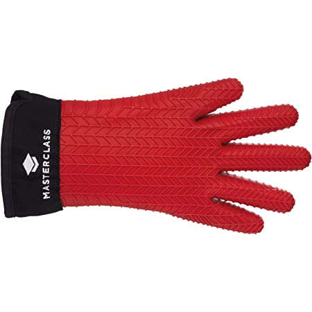 Black//Red /& OXO Good Grips Soft Handled Can Opener Silicone//Cotton MasterClass KitchenCraft Double Oven Glove