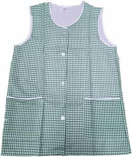 HDUK disponible en 6/couleurs et tailles du 36-38 au 56-58 Tablier de qualit/é sup/érieure avec deux poches /à lavant pour femme motif carreaux vichy avec boutons de fermeture