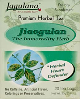 Jiaogulan Tea, 20 teabags of Immortality Herb Tea - Gynostemma Pentaphyllum - Herbal Organic and Delicious - High Concentr...