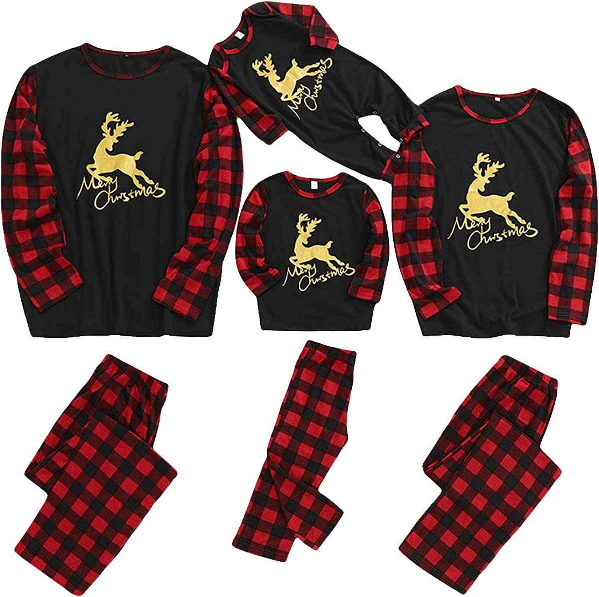 Matching Family Christmas PJ's Baby Pajamas Pl Holiday Women Beauty products Men Max 44% OFF