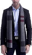 Men's Scarf, Fashion Cashmere Feel Scarves for Men Winter Autumn with Tassels Long Tartan