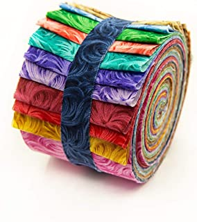 2.5 inch Feathered Jelly Roll 100% Cotton Fabric Quilting Strips Only by eight24hours