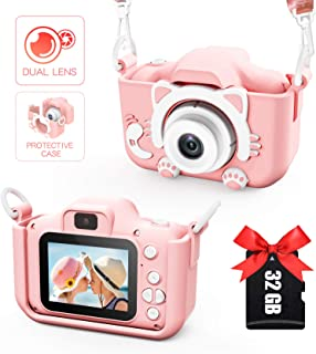 Kids Camera for Girls and Boys, Digital Dual Camera 2.0 Inches Screen 20.0MP Video Camcorder Anti-Drop Children Selfie Car...
