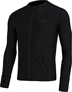 Speedo Men's Essential Zip Front Rash Top
