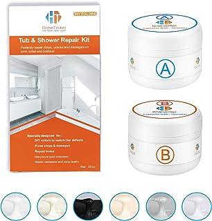 Best Tub, Tile and Shower Repair Kit (Color Match), 3.7oz Fiberglass Repair Kit, Porcelain Repair Kit White/Almond/Black/Bone/Bisque/Biscuit/Grey/Cream/Off White/Beige, Odorless Bathtub Paint Review