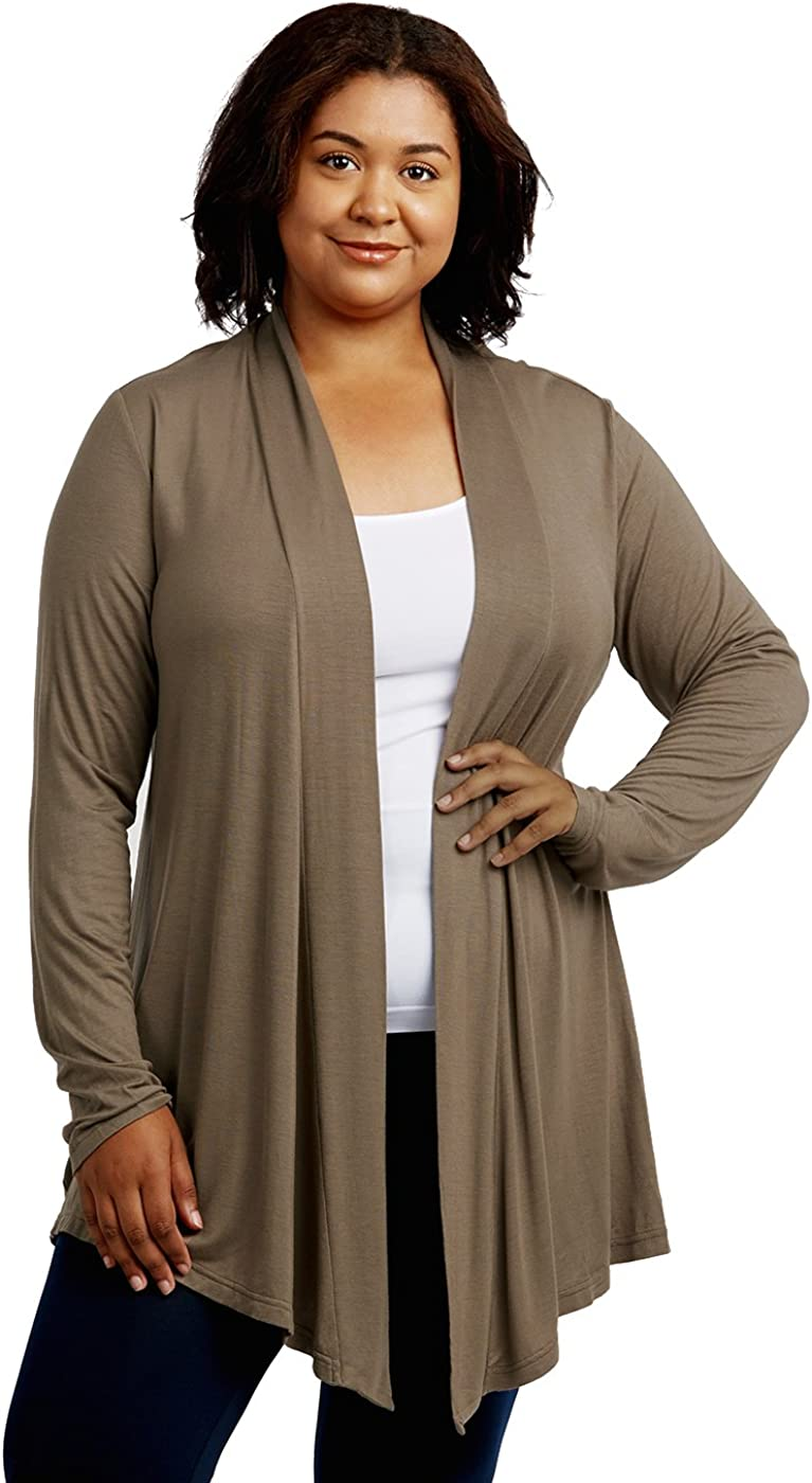 Cardigan - Women's Classic Chic Rayon Fabric Cardigan Sweater for Layering All Season Open Drape Cute Comfortable and Durable