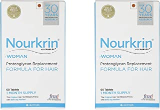 Nourkrin Woman Hair Growth Programme for Hair Fall Treatment - 60 Tablets 1 Month Pack of 2