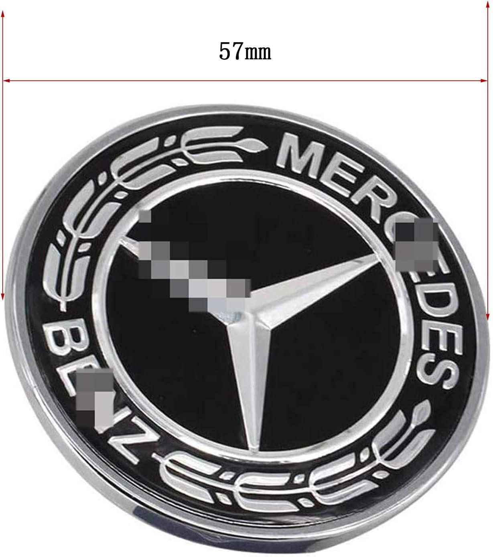 HAOXUAN Insignia del Emblema de la Estrella del cap/ó Plano del Logotipo del cap/ó del Coche 57 mm ABS Apto para la decoraci/ón de la Clase Me-RC-ed-es B-ENZ W204 W212 C//E//S,Azul