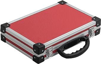 extra schmaler Alurahmenkoffer Werkzeugkoffer Schutzkoffer Aufbewahrung schwarz