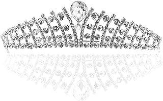 Pixnor Sposa Corona Matrimonio corona delicato Wedding Tiara nuziale di cristallo Hairband capelli Loop