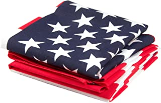 OHSAY USA American Flag Bandana 3-Pack - Made in USA for 70 Years - Sold by Vets – Sewn Edges