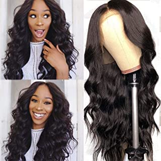Nadula 8A Human Hair 13×6 Lace Frontal Wig Body Wave with Baby Hair Brazilian Virgin Remy Body Wave Hair Wigs 150% Density For Black Women (16 inch, 13×6/150%)
