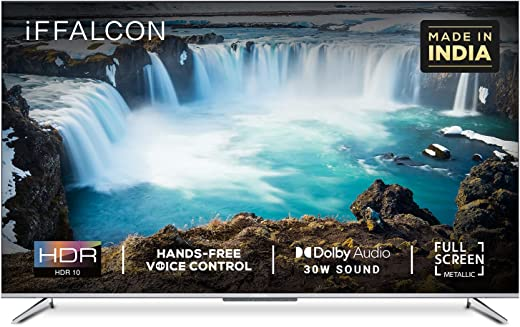 iFFALCON 139 cm (55 inches) 4K Ultra HD Smart Certified Android LED TV 55K71 (Sliver) (2021 Model)| With Voice Control 1