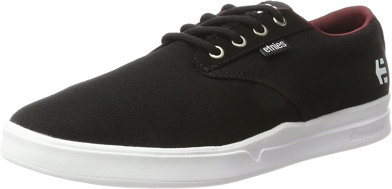 Etnies Men Jameson Sc Black White Burgundy shoes Size 8