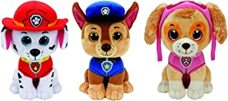 Ty Paw Patrol Beanie Babies - Set of 3! Marshall, Chase, and Skye!