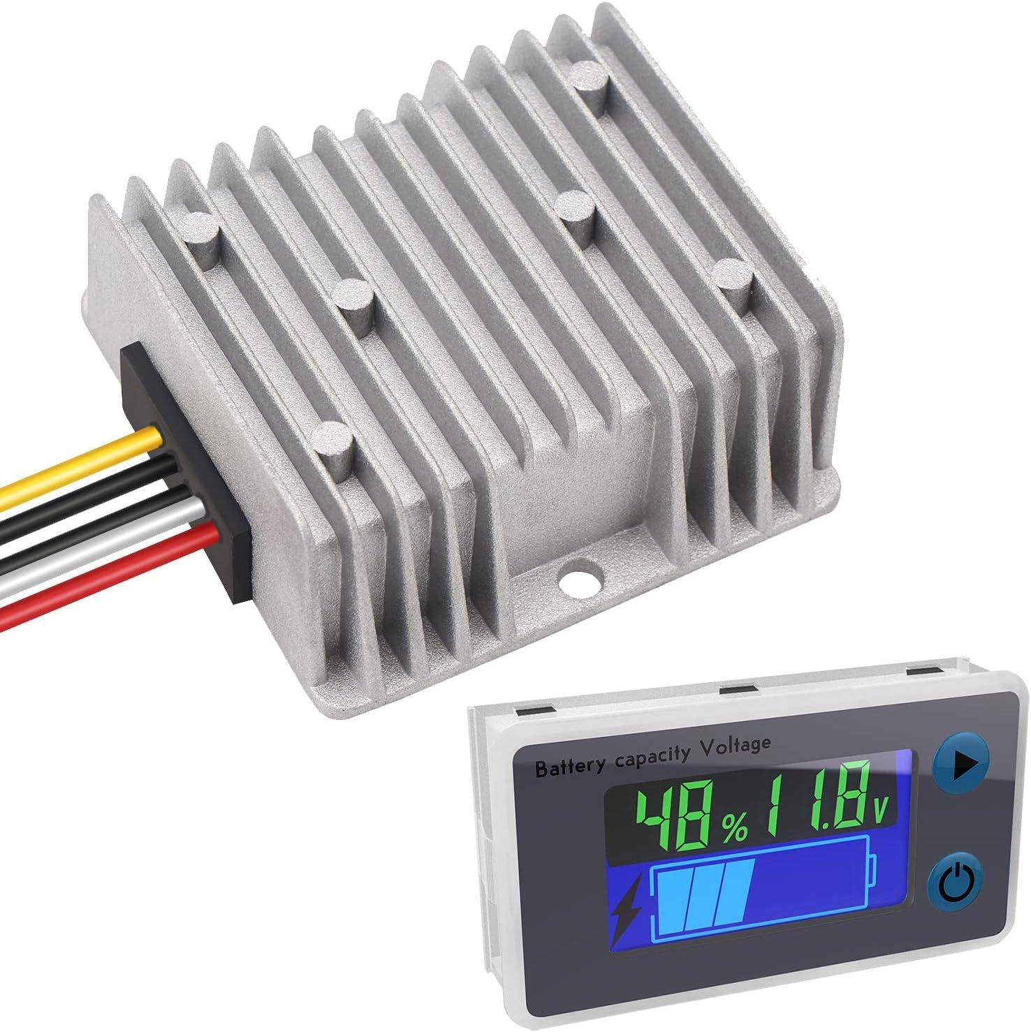 DROK 10-100V Battery Monitor and DC 10-40V to 5V Buck Converter Bundle