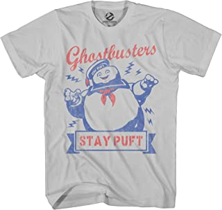 Ghostbusters Mens Stay Puft Shirt Stay Puft Logo Tee Shirt Graphic T-Shirt (Silver, XXX-Large)